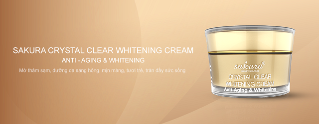 Kem dưỡng trắng Crystal Clear Whitening Cream – Anti-Aging & Whitening