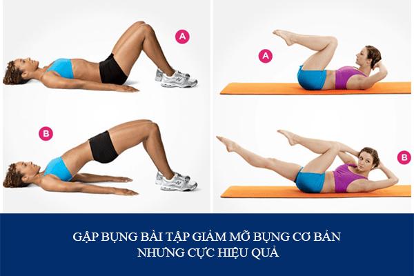 Các bài tập thể dục giảm mỡ bụng nhanh nhất tại nhà