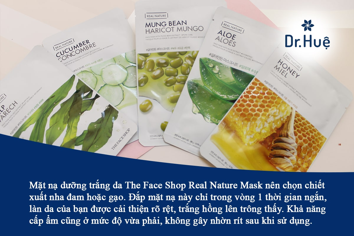 Mặt nạ dưỡng trắng da The Face Shop Real Nature Mask