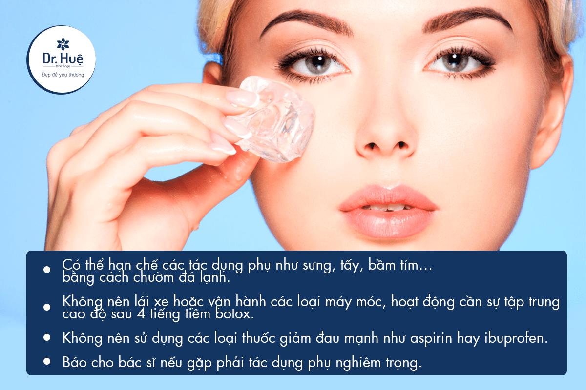 Cách chăm sóc da sau khi tiêm Botox xong