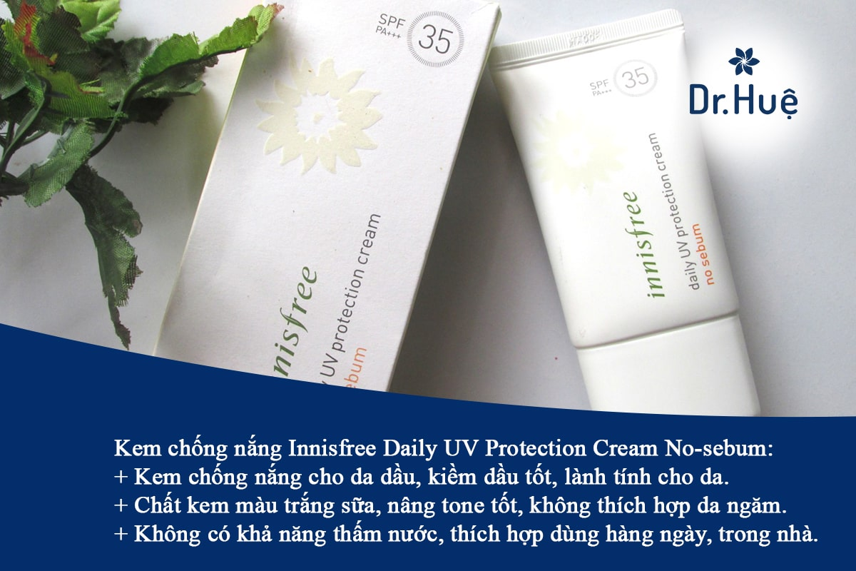 Kem chống nắng Innisfree Daily UV Protection Cream No-sebum