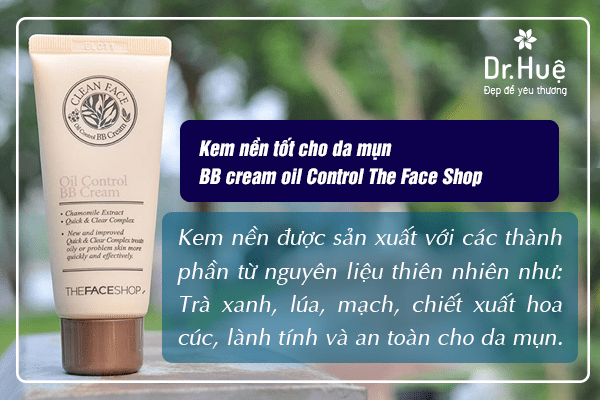 Kem nền tốt cho da mụn BB cream oil Control The Face Shop