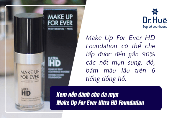 Kem nền dành cho da mụn Make Up For Ever Ultra HD Foundation