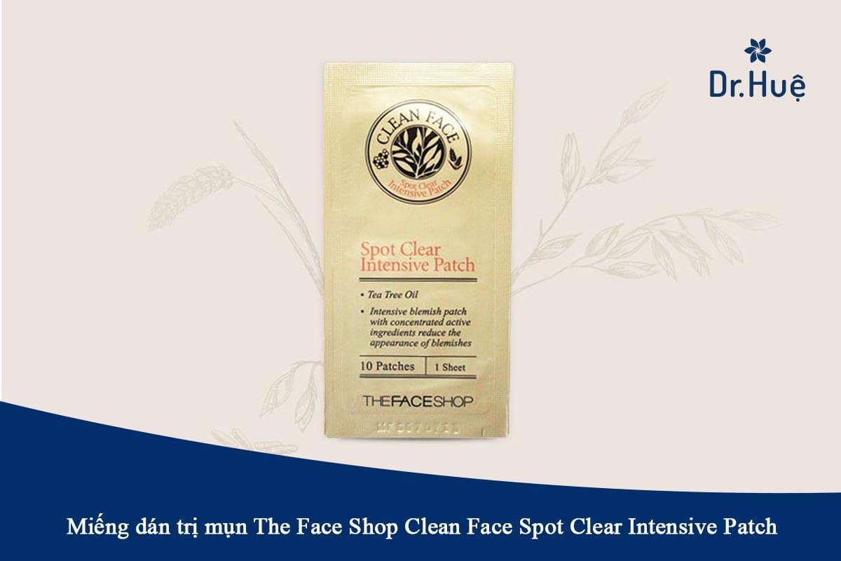 Miếng dán trị mụn The Face Shop Clean Face Spot Clear Intensive Patch
