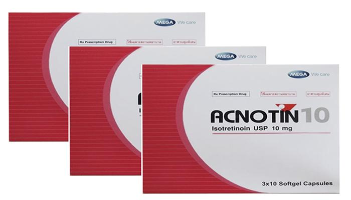 Thuốc trị mụn acnotin 10 và 20 tốt không, uống bao lâu thì hết mụn?
