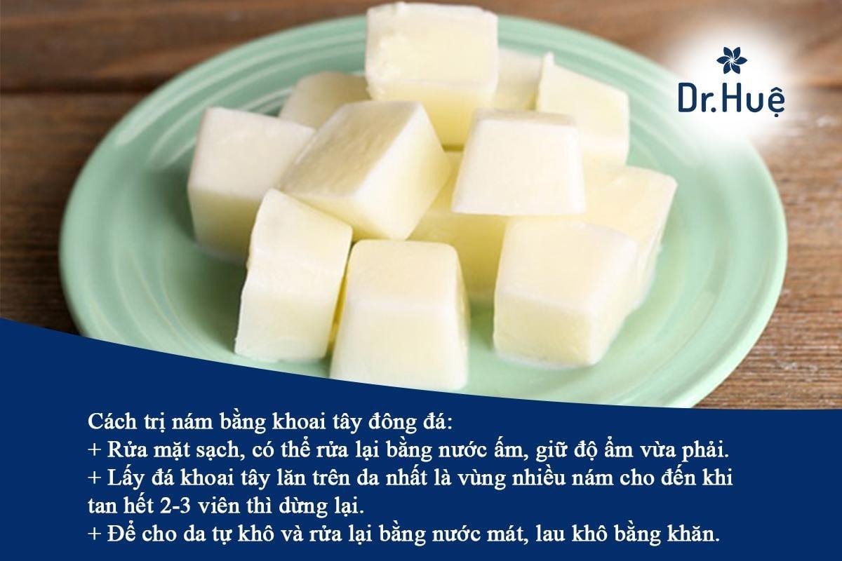 Cách trị nám bằng khoai tây đông đá dễ làm tại nhà