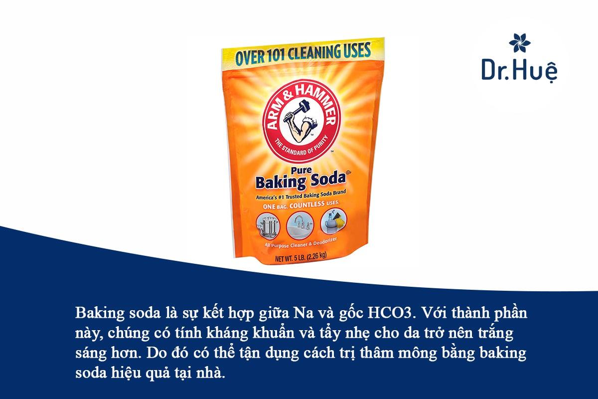 Cách trị thâm mông bằng baking soda hiệu quả tại nhà