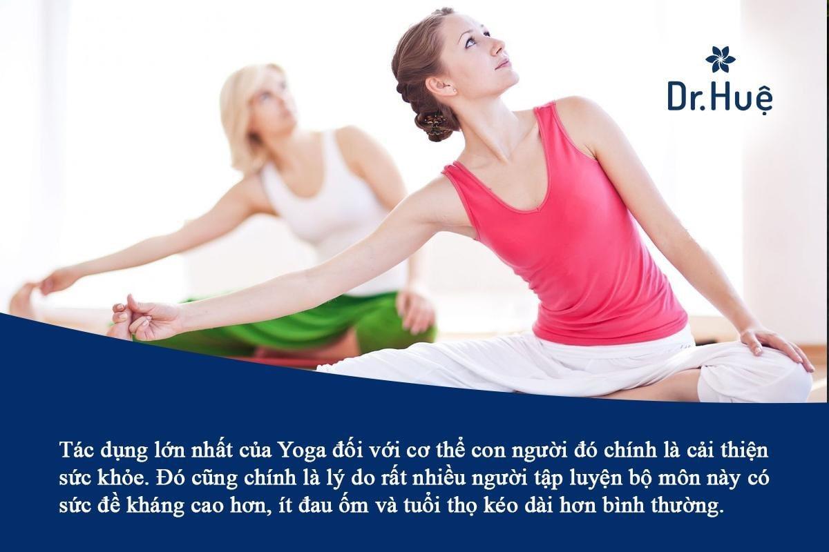 Tác dụng của tập Yoga đối với sức khỏe và sắc đẹp của phụ nữ
