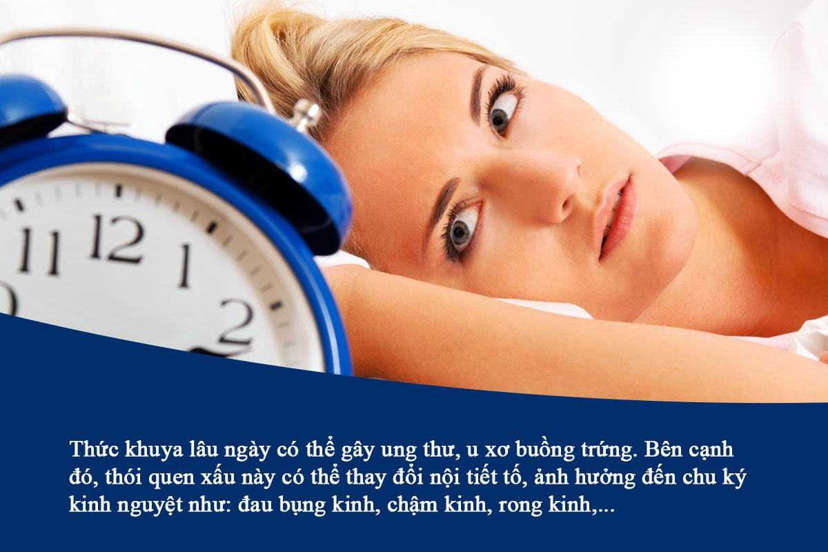 Những tác hại không tốt của thức khuya với phụ nữ